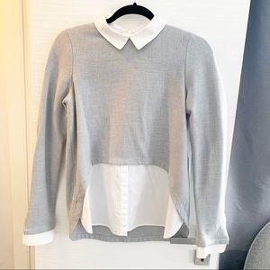 Zara combination top shirt blouse